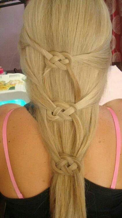 Celtic knot. This would look great in your hair now that its long again.