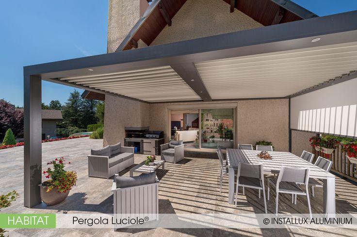 Les 25 meilleures id es de la cat gorie pergola lames orientables sur pinterest toit pergola - Pergola aluminium lames orientables ...