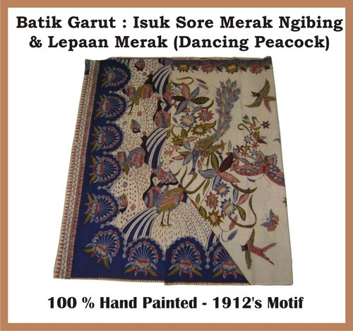 Batik Garut Merak Ngibing (Dancing Peacock) motif. This is the famous motif from Priangan.