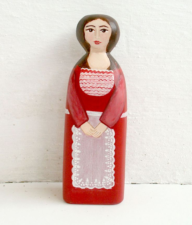 Female figure modern with red dress