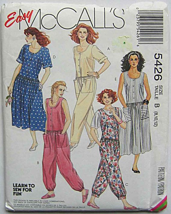 Misses' Easy Dresses and Jumpsuits McCall's 5426 by ecoquilter, $6.00