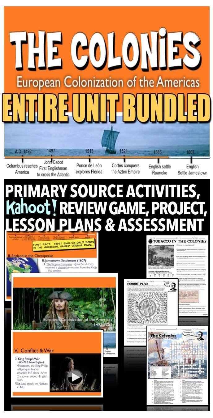 13 Colonies Unit American Colonies Ppts Prim Source Worksheets Review Test Social Studies Teacher Social Studies Activities 5th Grade Social Studies [ 1344 x 688 Pixel ]