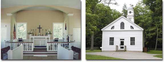 Chapel at Historic Allaire Village, Farmingdale, NJ - A Historic Setting For The Modern Bride