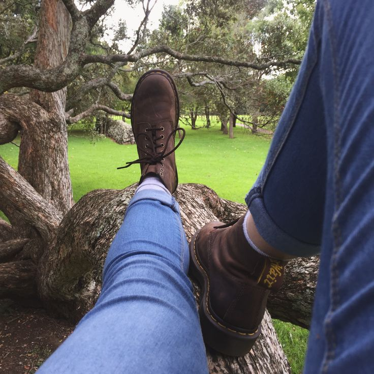 Tree climbing in Cornwall park, Auckland, NZ (2016)