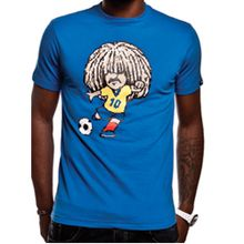 A tribute t-shirt to the wonderfully frizzy Colombian footballer, Carlos Valderrama. Copa Football.