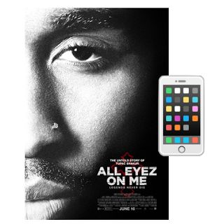 All Eyez On Me - iPhone Scene  Why was there an iPhone in Tupac's biopic All Eyez On Me? The iPhone was released in 2007 and Tupac was murdered in 1996. Did anyone review the movie before it was released? Accidents like this shouldn't happen. Scroll down to see Twitter's hilarious reaction to Tupac using an iPhone in the film.  The rapper was before his time but he didn't own an iPhone. Tupac and Steve Jobs are in Heaven having a good laugh right now. The movie has received mixed reviews…
