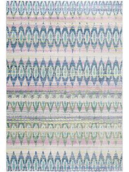 Kurzflor-Teppich Visconti Blau 120x180 cm