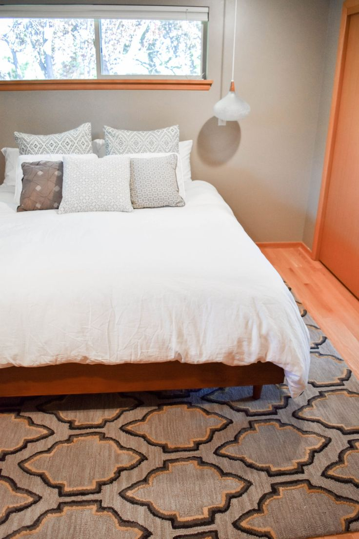 Easy DIY Mid Century Modern Bed Built for a California