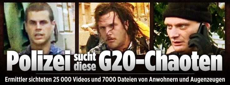 Polizei sucht diese G20-Chaoten von Hamburg