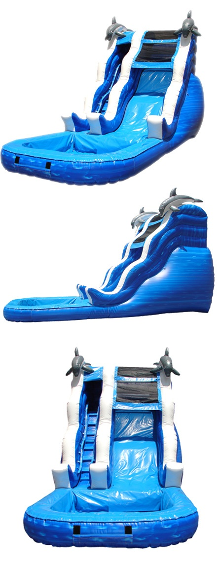 16' Water Slide: Outdoor Inflatable Water Slides, 16' Party Rental Water Slides