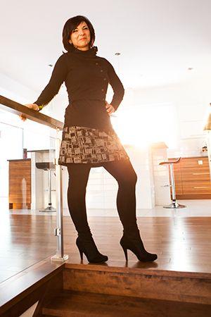 Legging long uni noir en coton bio et spandex, jupe jacquard domino et boléro attachant. Un passe-partout dont on ne peut se passer car il est tellement confortable! Ce legging s'agence avec nos tuniques, robes et jupes. Le tissu de ce legging est tricoté à Montréal! www.rienneseperd.com