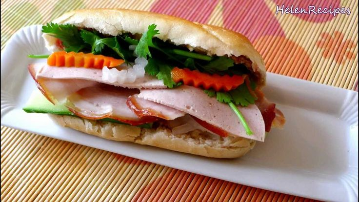 How To Make Vietnamese Sandwich Banh Mi Thit Nguoi Bahn Mi Recipes Pinterest How To Make Vietnamese Sandwich And Sandwiches