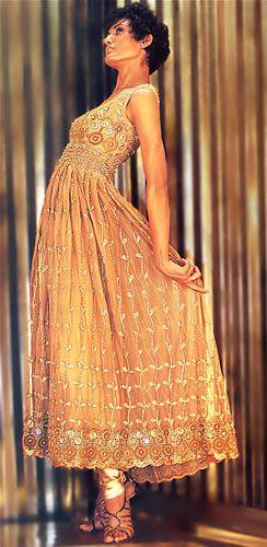 Gold anarkali - sangeet outfit