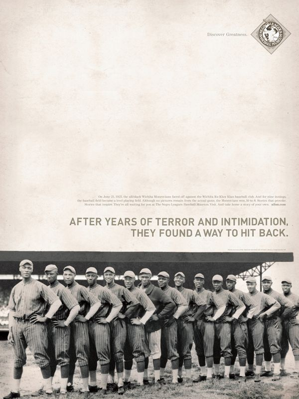 The Negro Leagues Baseball Museum Poster Series by Brandon Oltman, via Behance