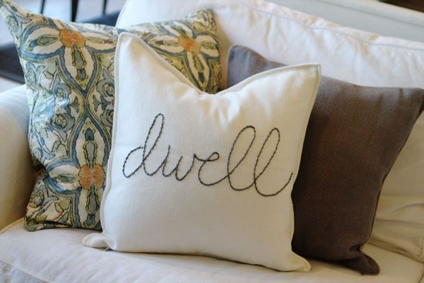 hand-stitched dwell pillow, so pretty