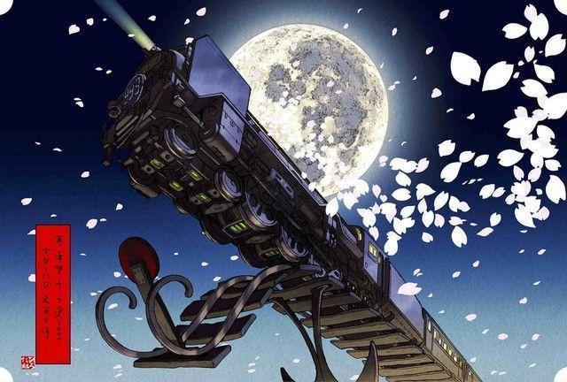「銀河鉄道テイクオフ」松本零士の原画をもとにした浮世絵木版画「松本零士 浮世絵コレクション」が、ブロード・エキスパートの公式サイトにて3月7日に発売される。「銀河鉄道999」「宇宙海賊キャプテンハーロック」「宇宙戦艦ヤマト」を題材にした全6種類。ひろた組によるコンセプトワークのもと、人間国宝・岩野市兵衛が作る和紙に老舗・竹笹堂の伝統技術で絵柄が印刷された。