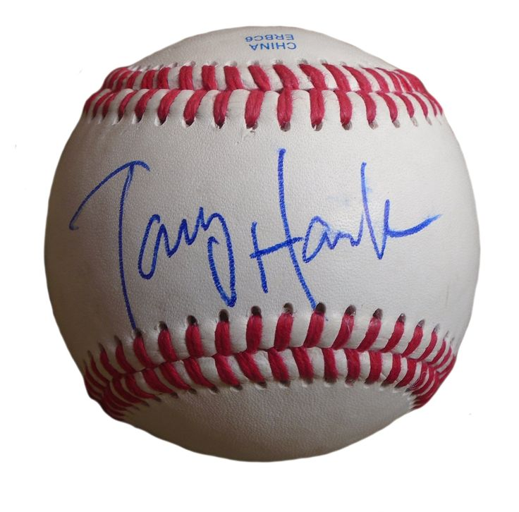 Skateboarding Legend! Tony Hawk Autographed Rawlings ROLB1 Leather Baseball, Proof Photo. Tony Hawk Autographed Rawlings ROLB Baseball, X-Games Gold Medalist, Proof   This is a brand-new Tony Hawk autographed Rawlings ROLB baseball.  Tony signed the baseball in blue ballpoint pen. Check out the photo of Tony signing for us. ** Proof photo is included for free with purchase. Please click on images to enlarge. Please browse our website for additional Sports, Hollywood & Celebrity autographed…