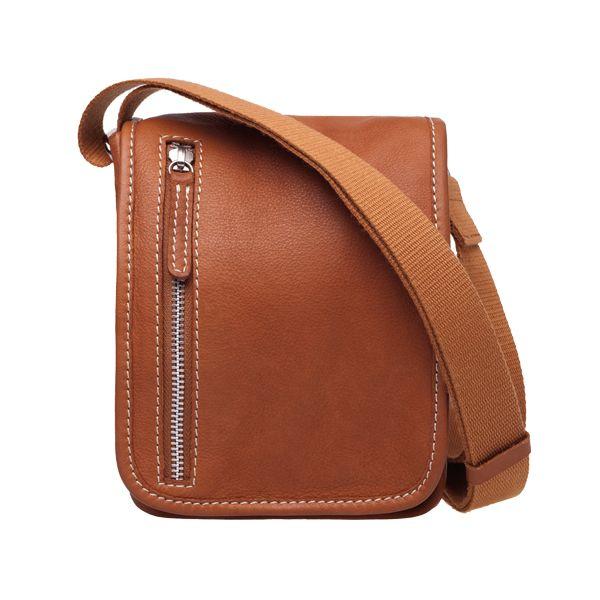 Nano bag, brown leather