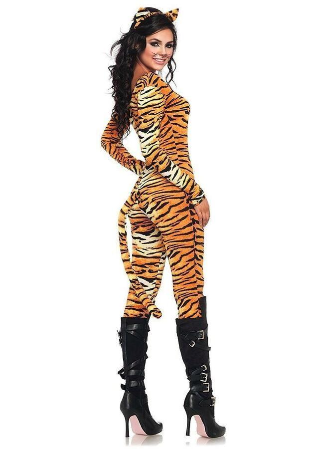 Tiger Wild Cat Jungle Safari Animal Fancy Dress Up Halloween Child Costume