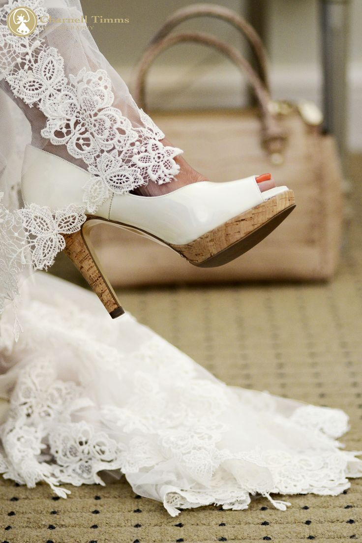 Peter Kaiser shoes with Karen Millen handbag at Lanzerac wedding venue