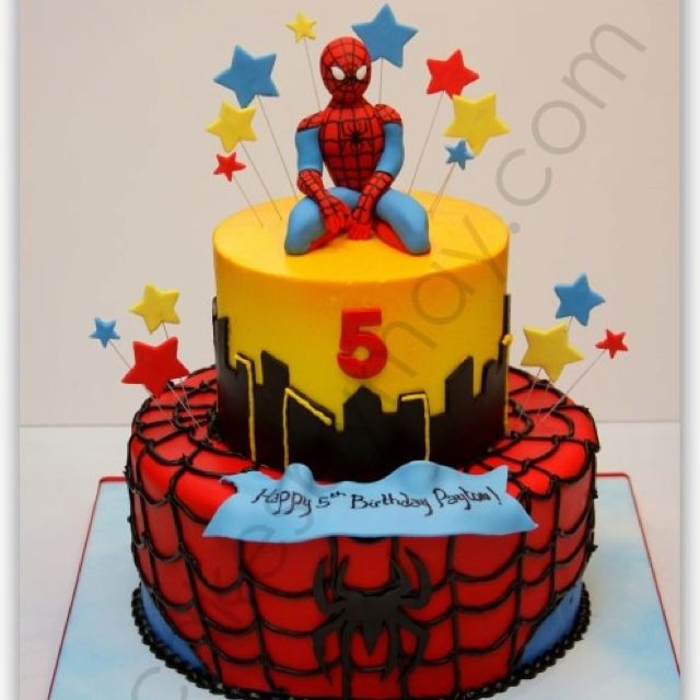 Birthday Cake Ideas Spiderman : Spiderman cake Gateau Spiderman Pinterest Cakes, I ...