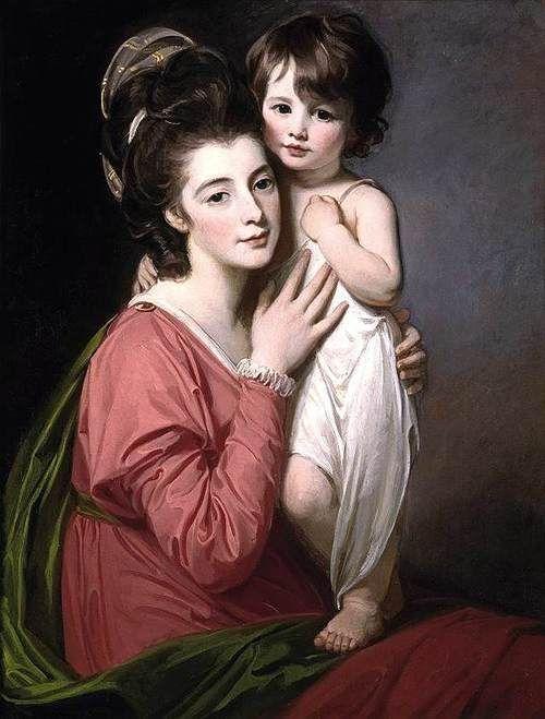 Portrait of Mrs Henrietta Morris and Her Son John, by George Romney, 1777