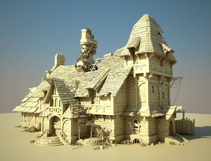 Old Ruined Building 3D, Toby Lewin on ArtStation at http://www.artstation.com/artwork/old-ruined-building-3d