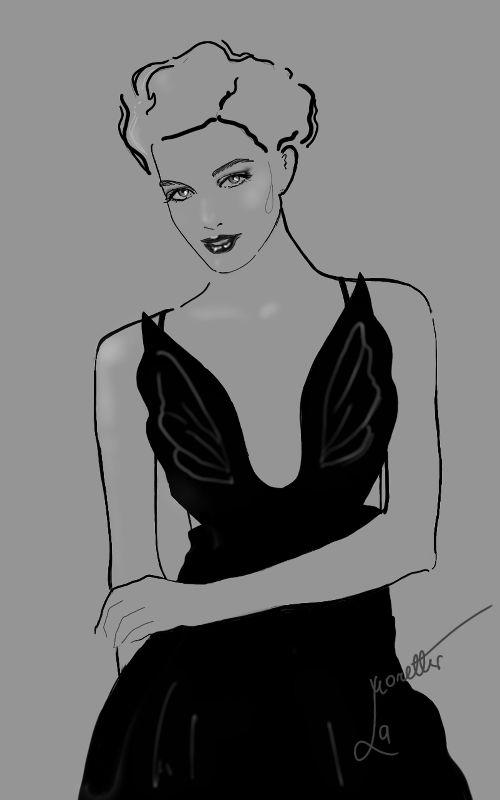 Black Valentino Couture by Nadia La Moretti
