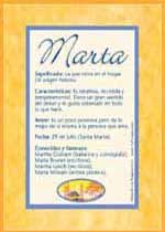 Marta: significado del nombre.