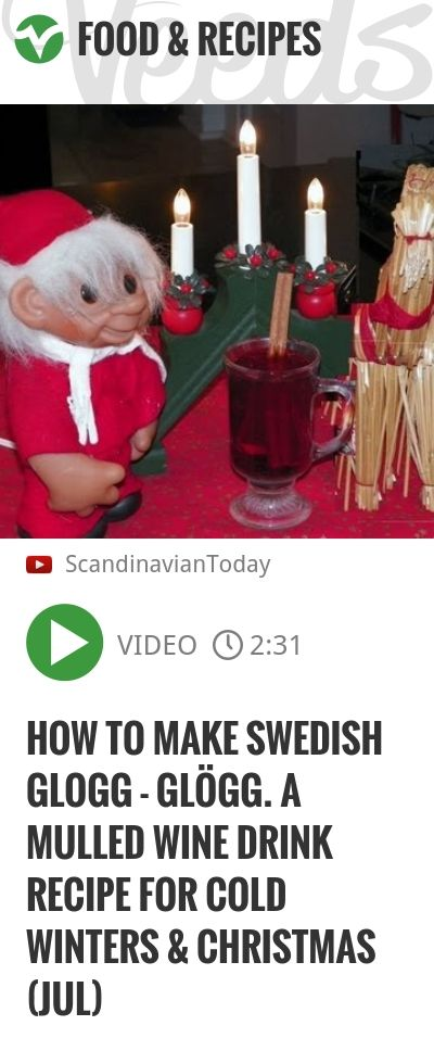 How to make Swedish Glogg - Glögg. A mulled wine drink recipe for cold winters & Christmas (Jul) | http://veeds.com/i/DnyTuGt9Q9Ph5hfd/jummy/