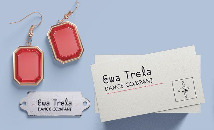 Ewa Trela Dance Company logo design.