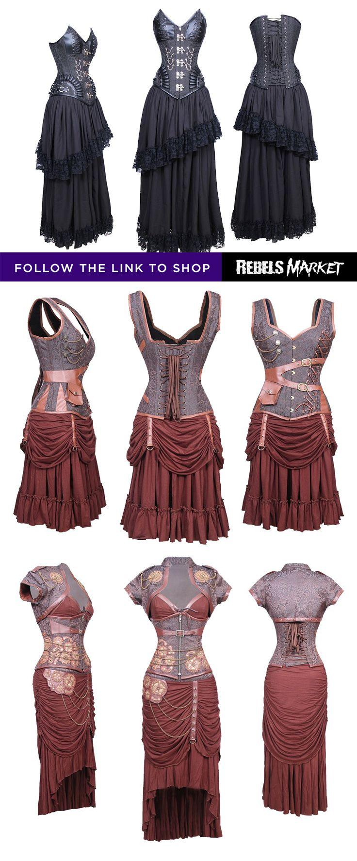 Shop steampunk gothic dresses online at RebelsMarket.