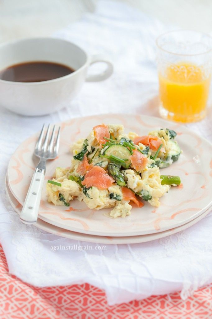 Smoked Salmon and Veggie Scramble - Danielle Walker's Against All Grain