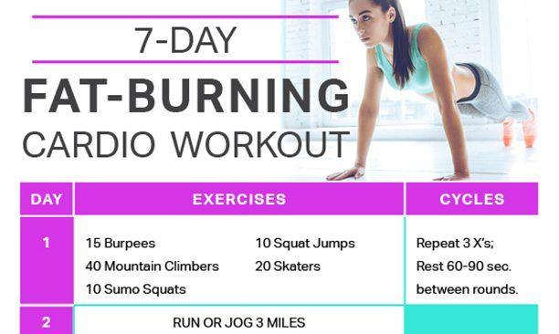 7-Day Fat-Burning Cardio Workout Calendar - Skinny Ms Training