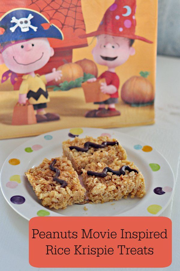 Too cute!!! Peanuts Movie Inspired Treats