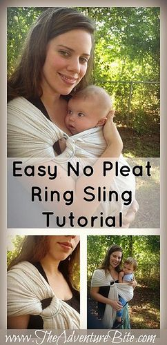 Easy No Pleat Ring Sling Tutorial by The Adventure Bite, via Flickr even use it as fashion but this will come in handy one day
