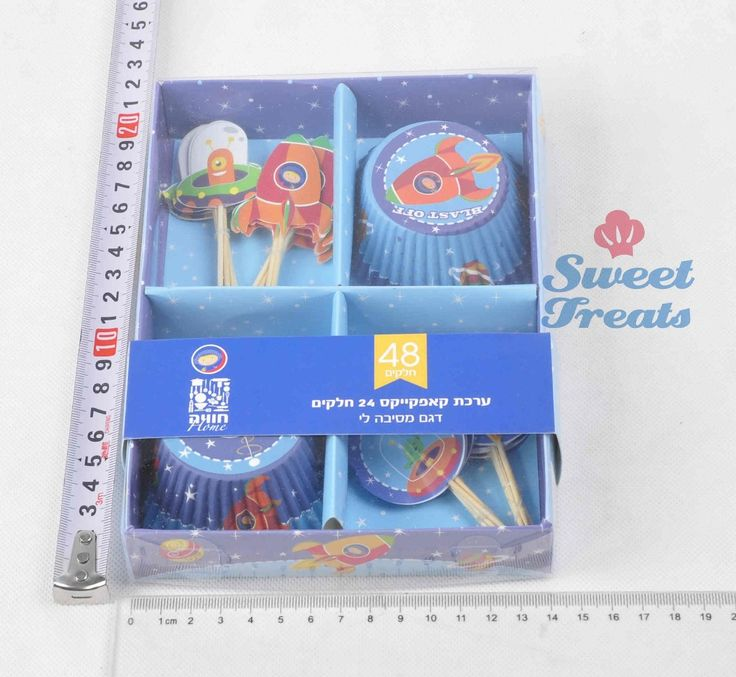 Rocket 24 cupcake liners en 24 cake toppers set voor verjaardagsfeestje viering cupcake decoratie kit muffin cup(China (Mainland))