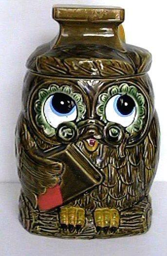 ✿ڿڰۣ(̆̃̃•Aussiegirl Vintage Owl cookie jar