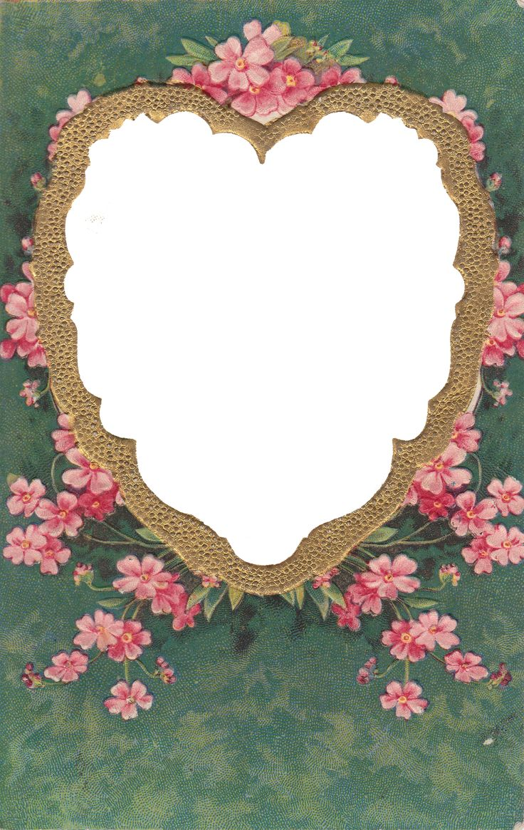 Wings Of Whimsy: Gilded Heart Frame PNG file (transparent background) - free for personal use #vintage #edwardian #victorian