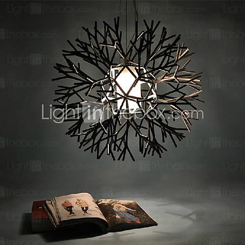 [USD $ 159.99] Coral design pendant, 1 light, iron acrylic painting