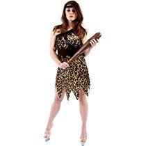 Steinzeit Höhlenmensch für Damen Kostüm Fasching Verkleidung Mottoparty