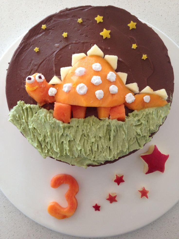 Raw cheesecake dinosaur 3rd Birthday