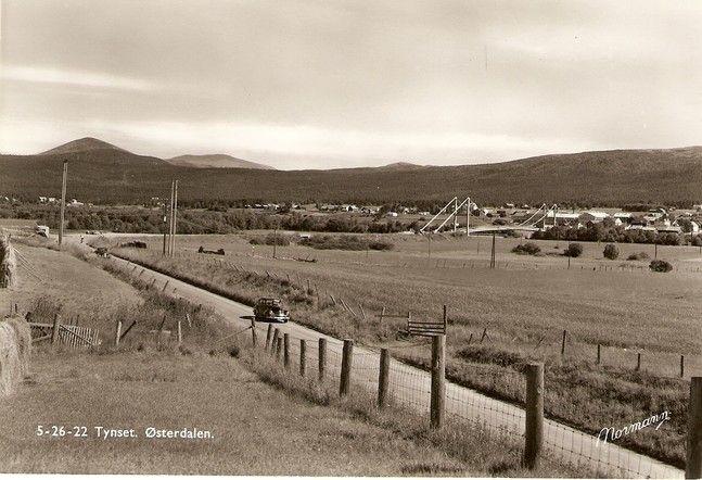 Tynset 1950-tallet - foto Normann