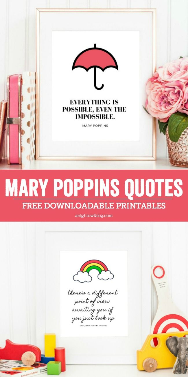 Mary Poppins Quotes Printables | A Night Owl Blog | Mary