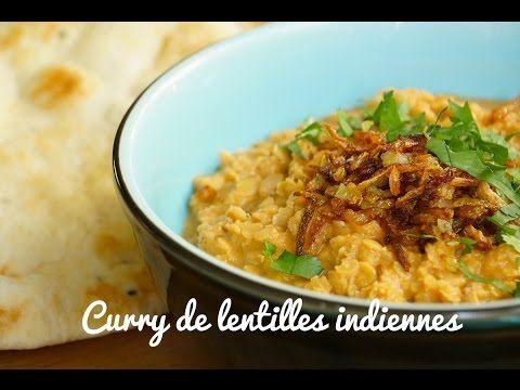 Recette curry de lentilles indien végétarien ou dhal curry (Subtitled) - YouTube