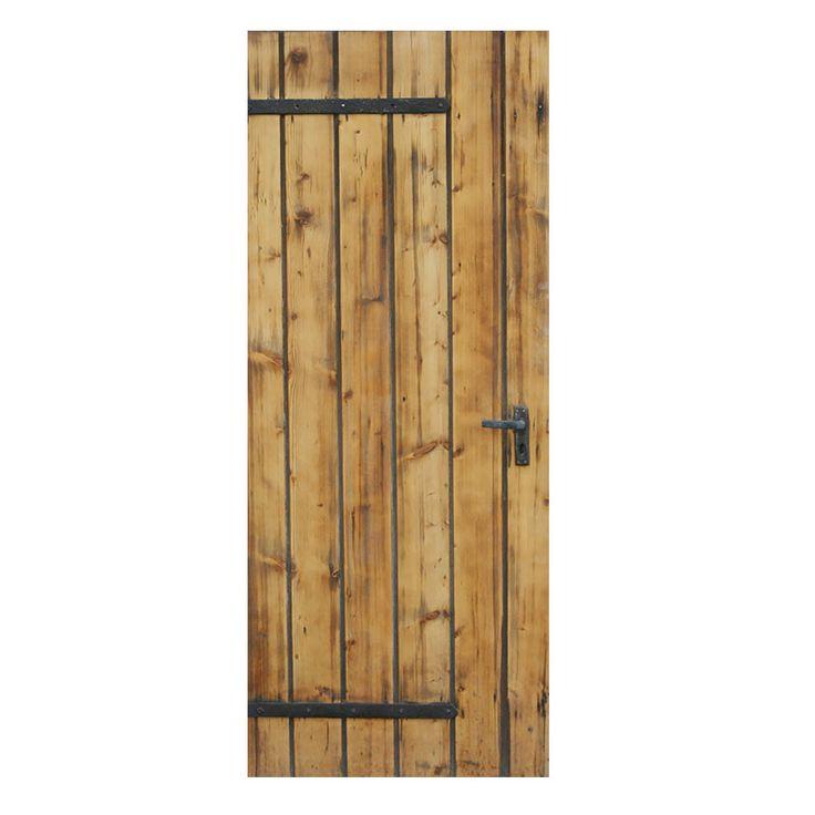 Houten deur stickers om een saaie deur op te pimpen. Gedrukt op mat stickermateriaal, ook afwijkende maten mogelijk. GOEDKOOP DE LEUKSTE DEURSTICKERS