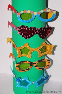 Fun Glasses: Print, cut out and decorate these fun-shaped eyeglasses. This…