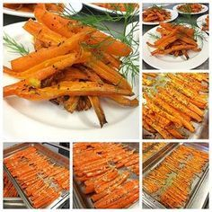 Gör så här: 1. Sätt ugnen på 200°. 2. Skala och skär morötterna i långa stavar. 3. Lägg morötterna i en ugnssäker form. 4. Ringla över olja, smör och honung, strö på salt, citronpeppar, timjan…