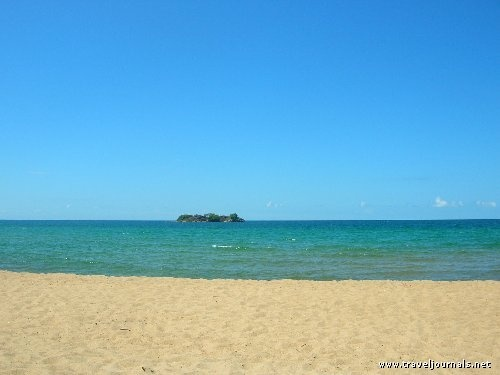 Malawi - Kandi Beach, I swam to that island and dived off of the rocks!