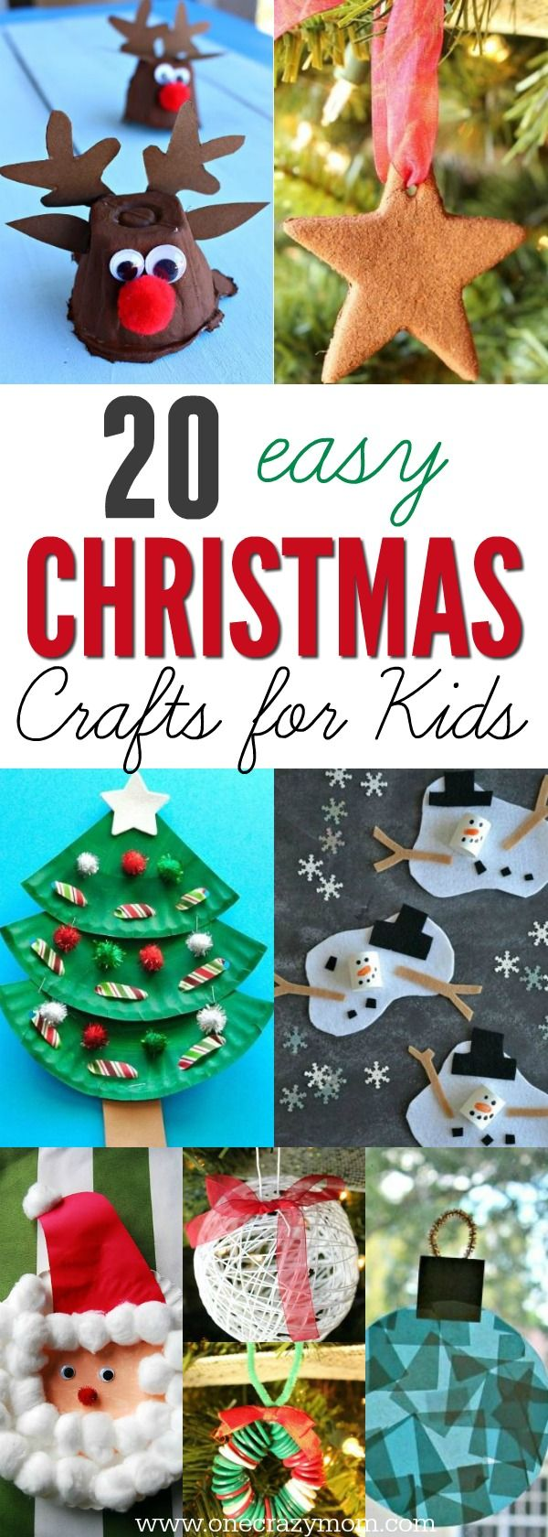 find easy christmas crafts for kids including preschool christmas craftsthey will love these holiday